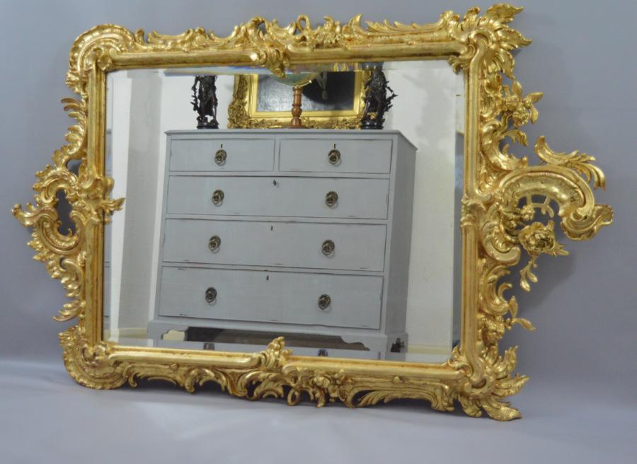 Victorian Ornate Gilt Gesso Mirror