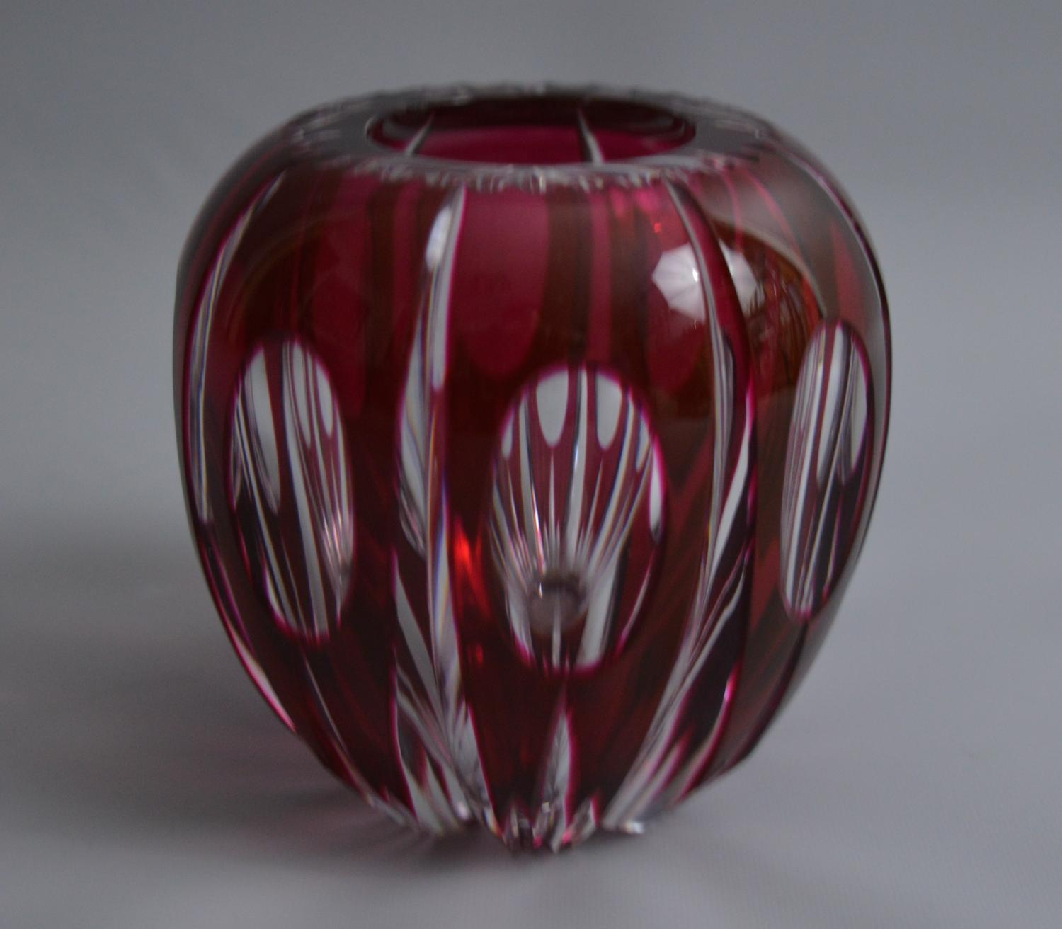 Small Val St Lambert Glass Vase