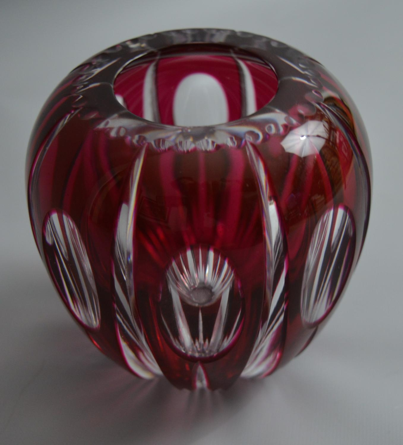 Small Val St Lambert Glass Vase in Miscellaneous