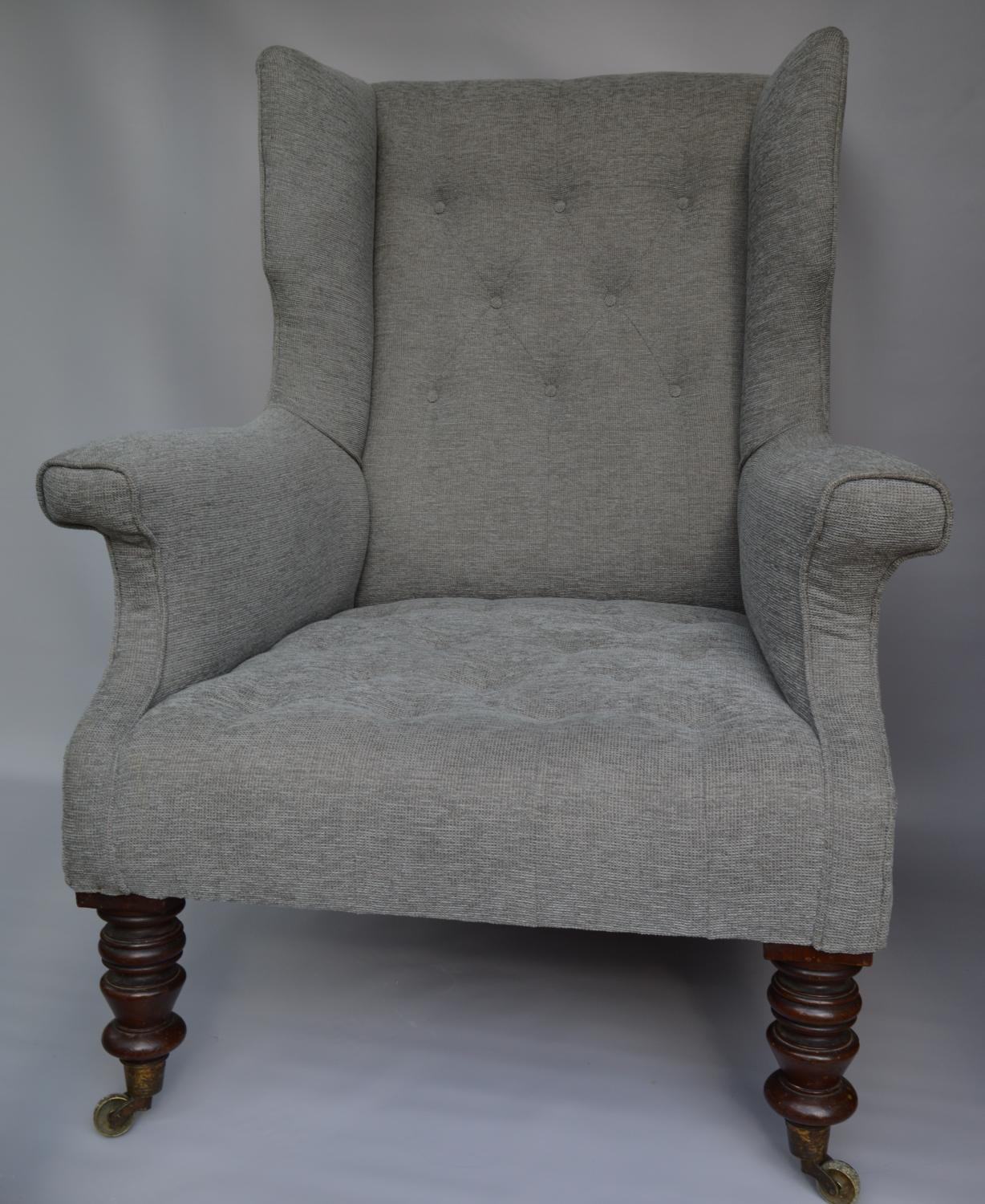 19th Century Wing Back Armchair