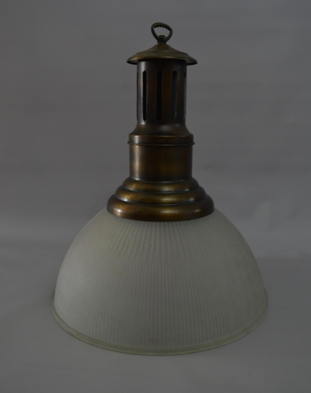 Large 1930's Holophane Ceiling Light