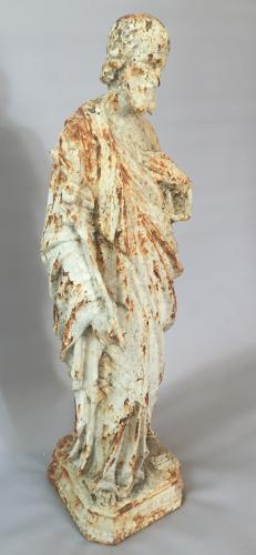 19th Century Cast Iron Saint Joseph Figure