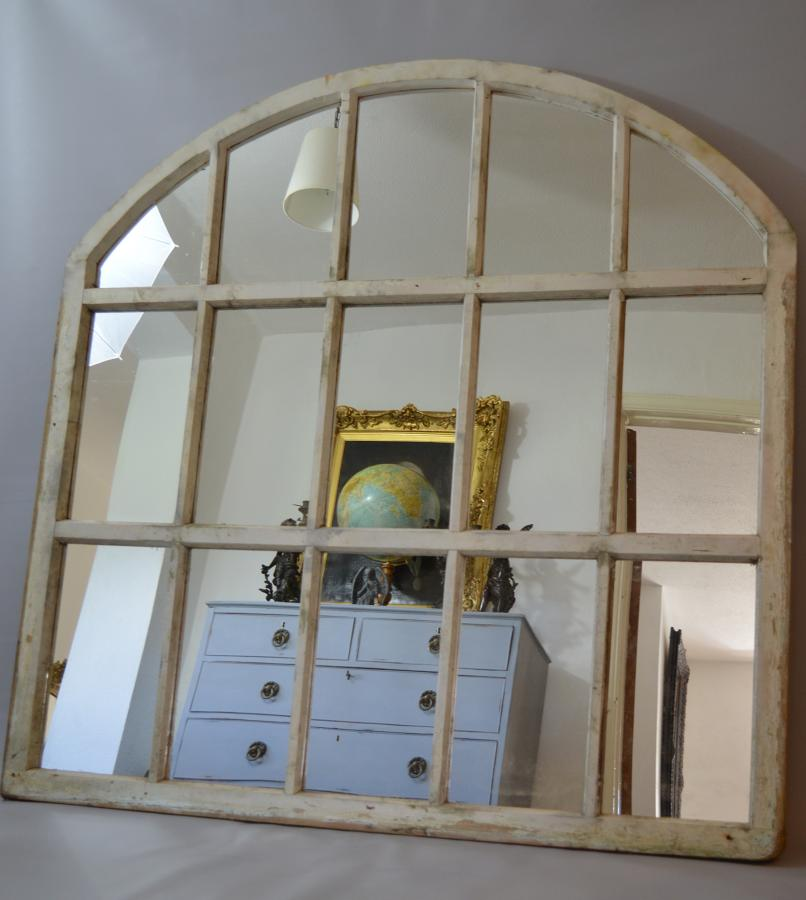 Large Arched Window Frame Mirror
