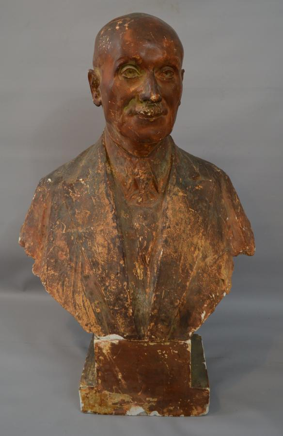 Signed Plaster Bust Of A Gentleman