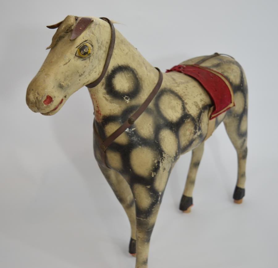 19th Century French Wood & Papier Mache Horse