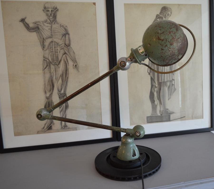 1950's Jielde Factory Lamp