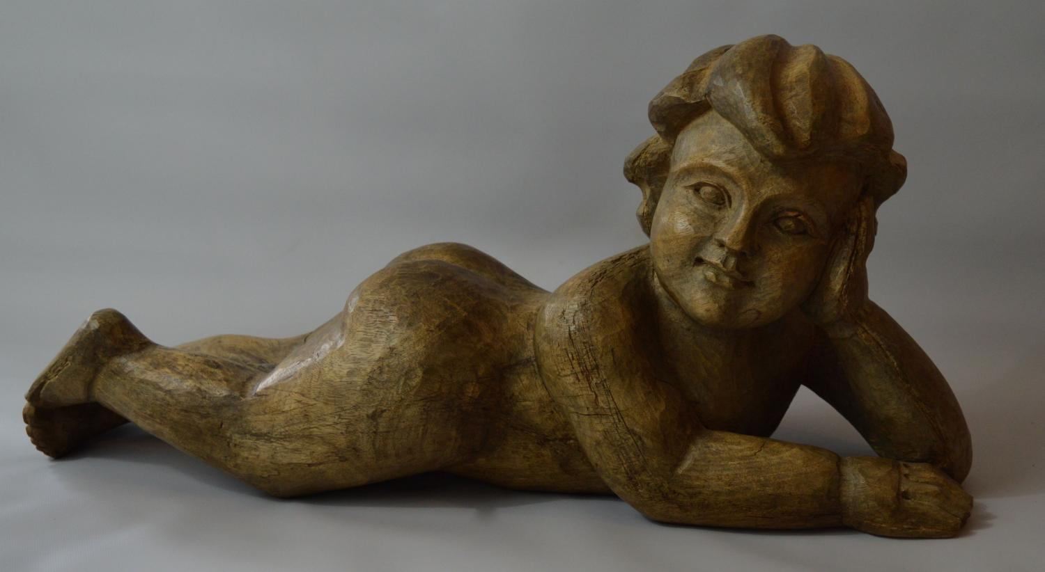 Large 19th Century Carved Putti