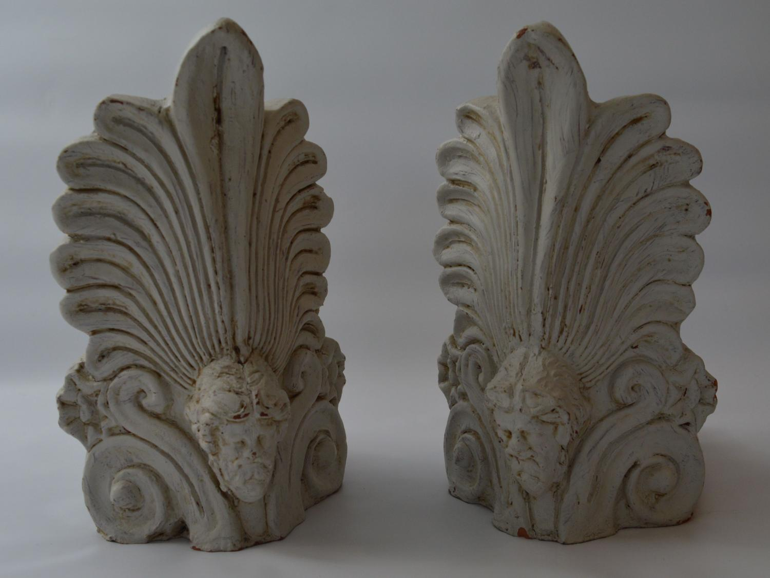 A Pair Of Decorative Terracotta Finials