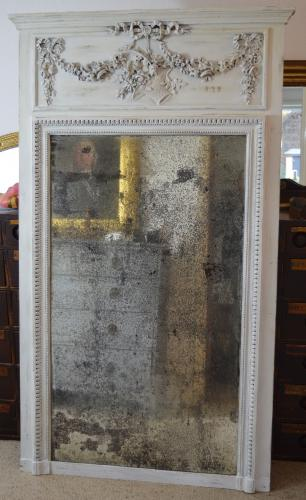 Gorgeous C19th Distressed French Mirror