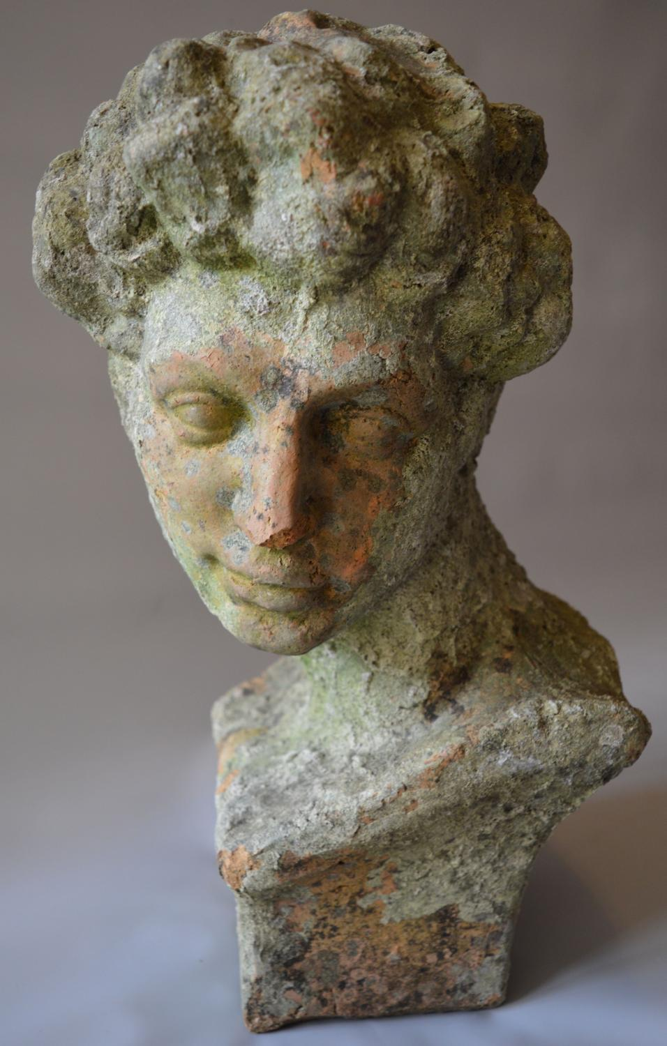 Weathered Terracotta Bust Of Hermes