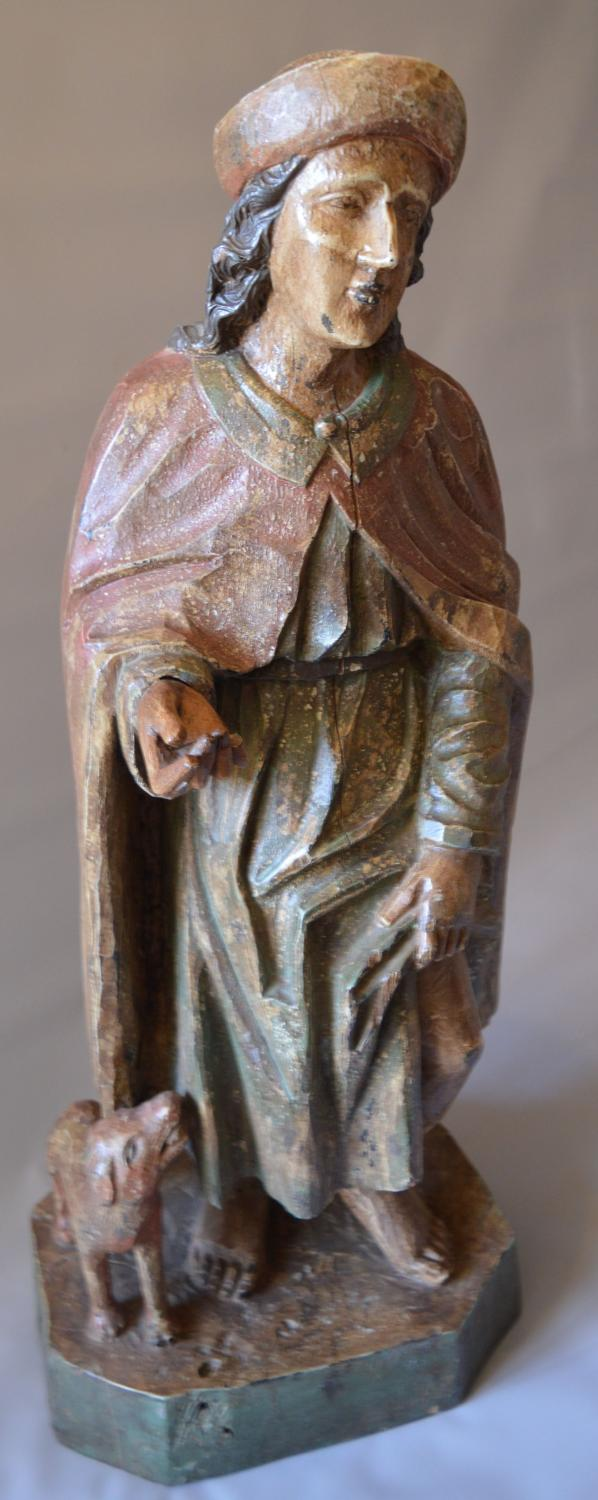 18th Century Carved Figure Of St Roch
