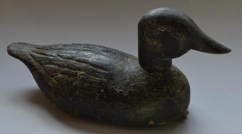 19th Century Carved Wood Duck Decoy
