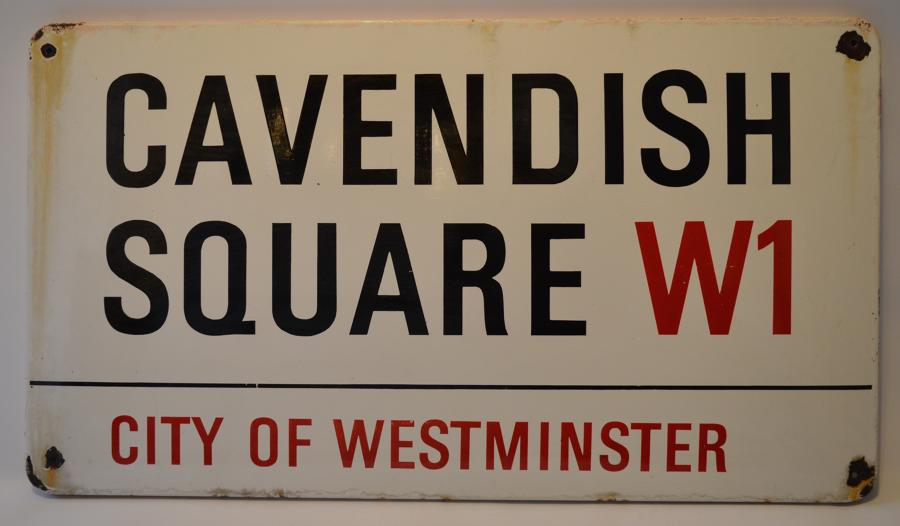 Original Enamel London Street Sign