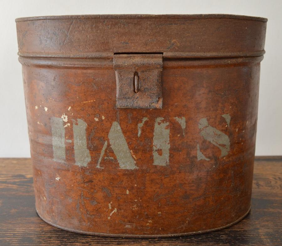19th Century Oval Hat Box