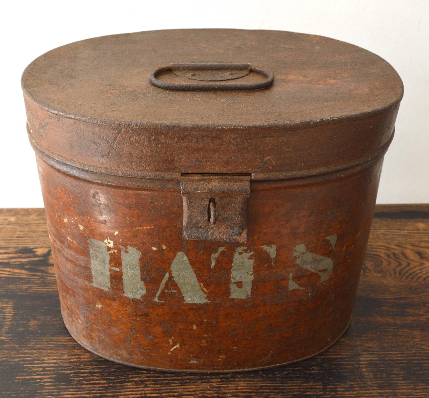 Decorative Hat Boxes Uk : Th century oval hat box in decorative