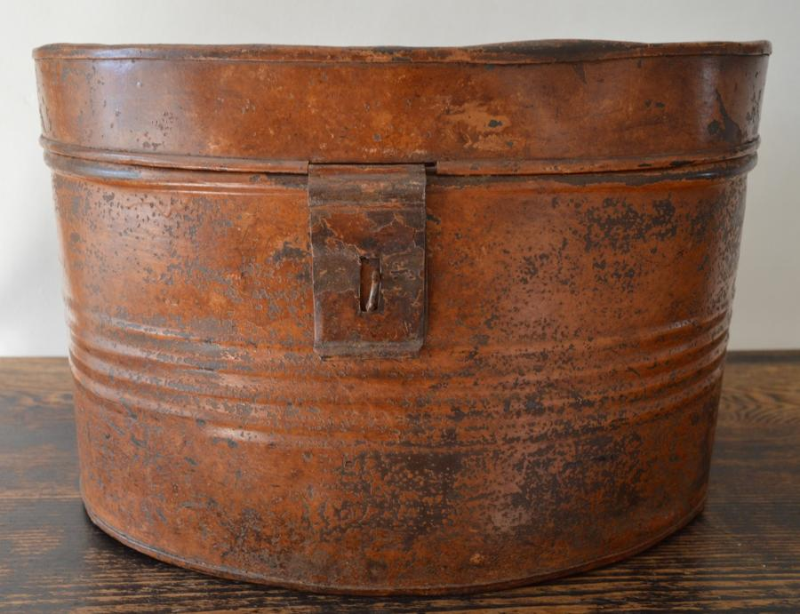 Large 19th Century Painted Hat Box