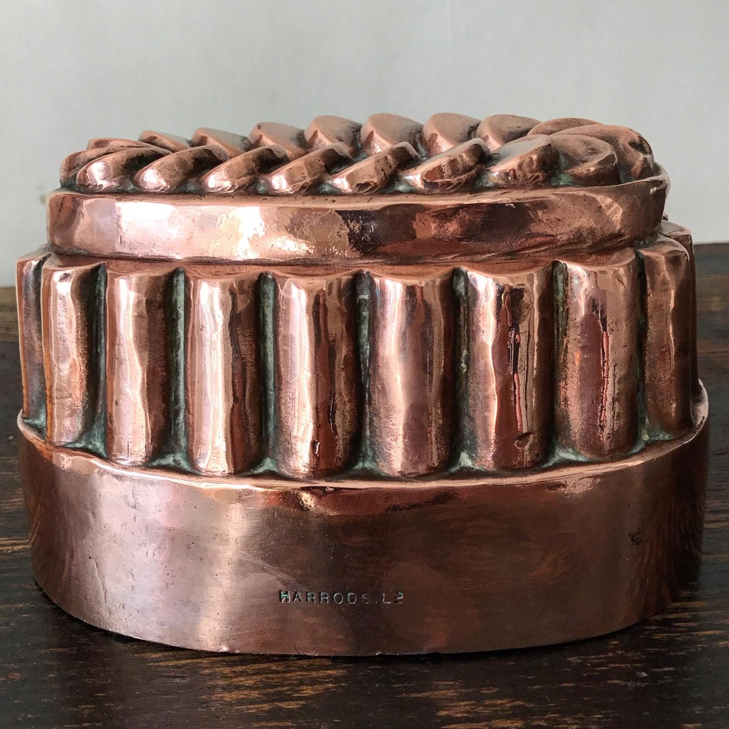 Antique Harrods Copper Jelly Mould