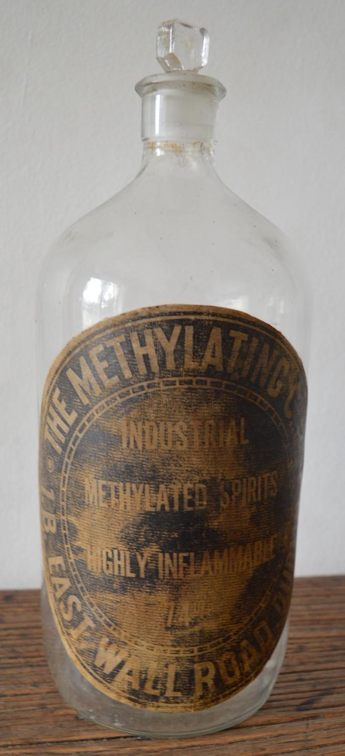 Large Vintage Methylated Spirits Bottle