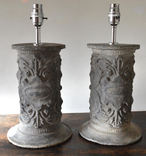 A Pair Of French Lead Lamps