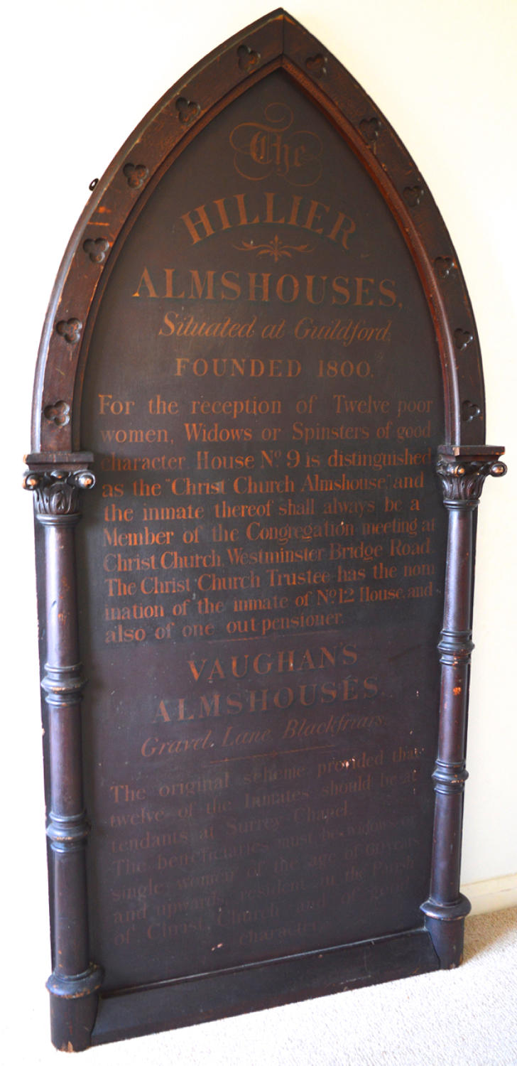 Large London Almshouses Sign