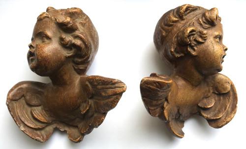 Beautiful Pair Of Cherubs