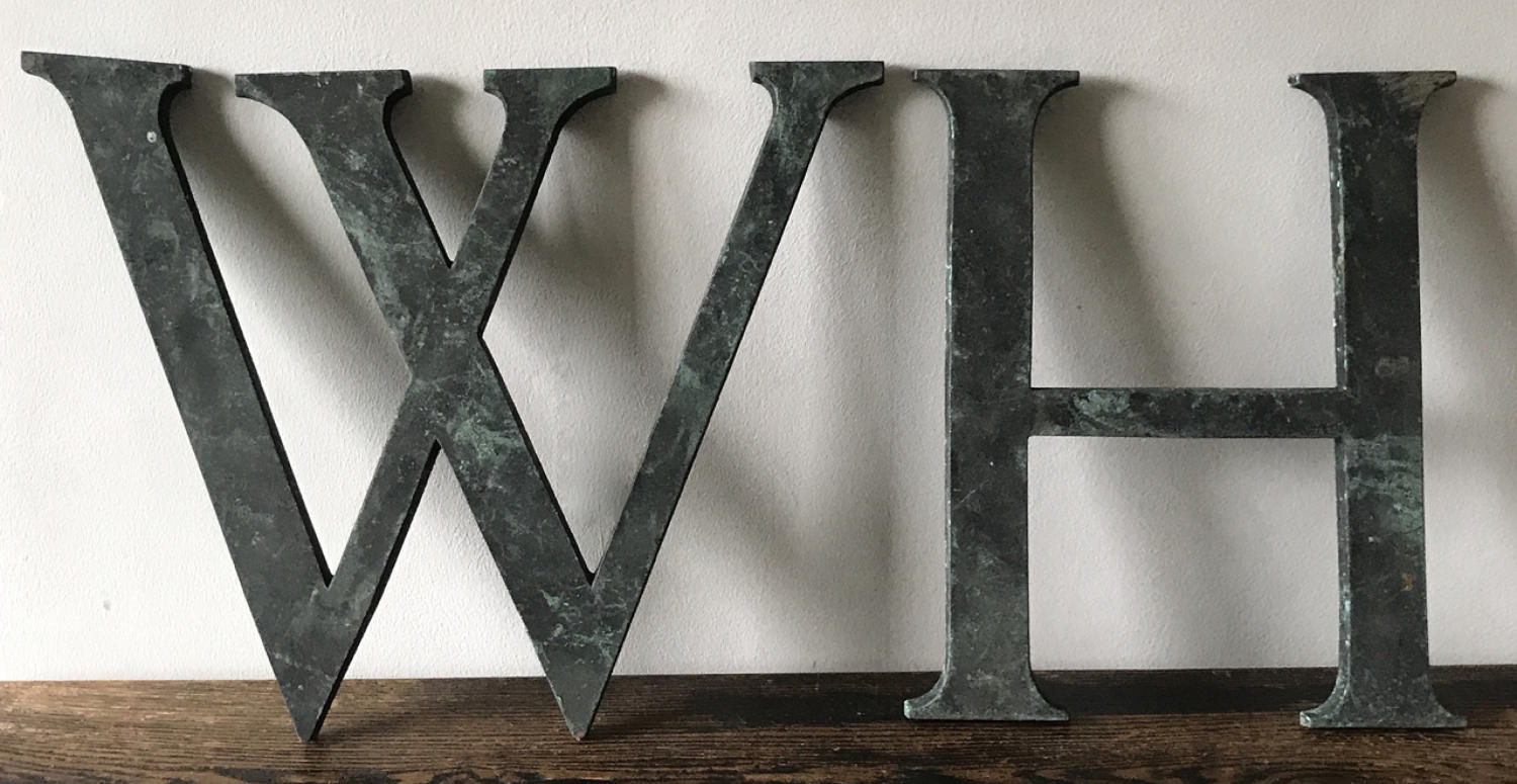 LARGE VERDIGRIS BRONZE SHOP LETTERS