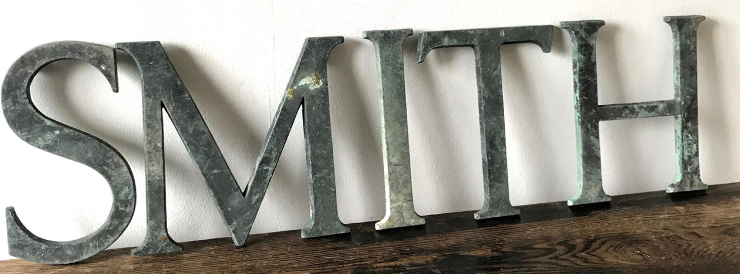 SMITH 1940'S SHOP LETTERS