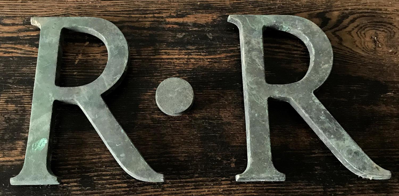 R.R BRONZE SHOP LETTERS