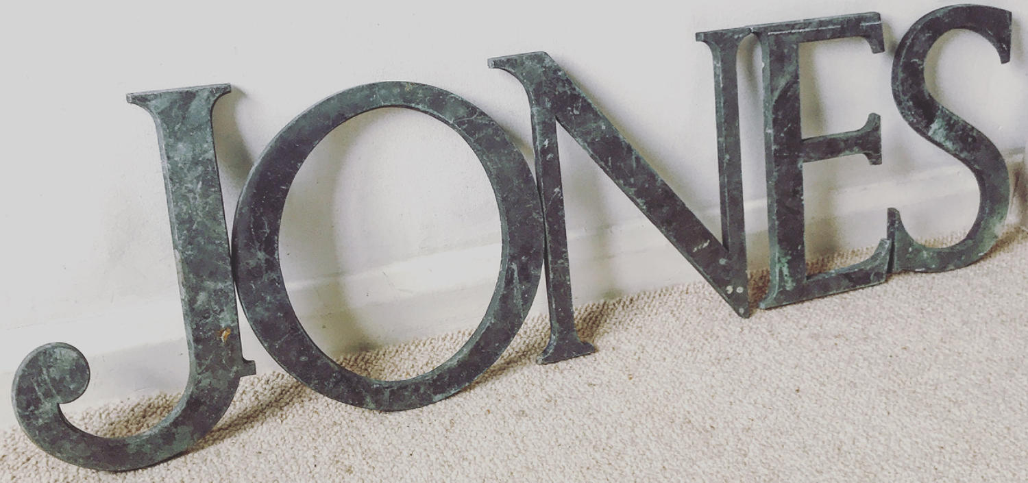 LARGE BRONZE SHOP LETTERS