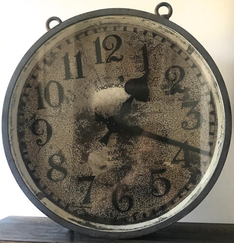 1940's DOUBLE SIDED SYNCHRONOME CLOCK