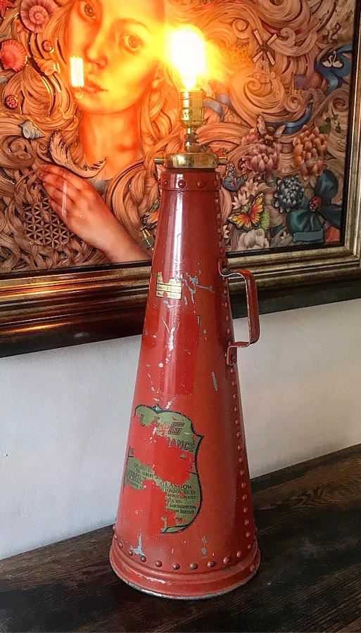 1960'S FIRE EXTINGUISHER LAMP