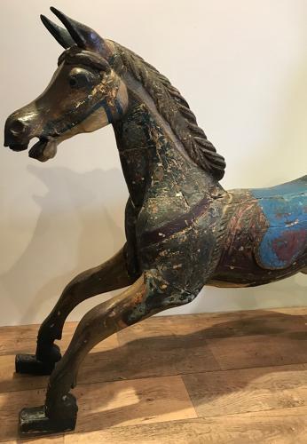 ANTIQUE 19TH CENTURY G & J LINES CAROUSEL HORSE