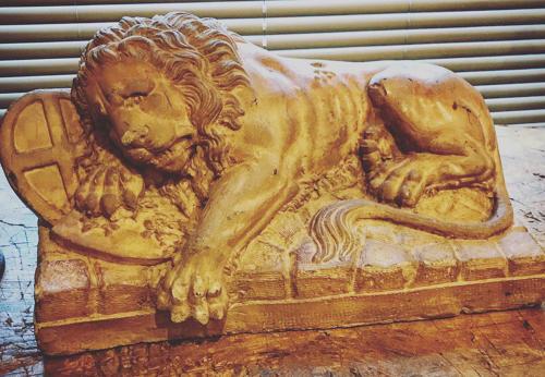 ANTIQUE STONE LION