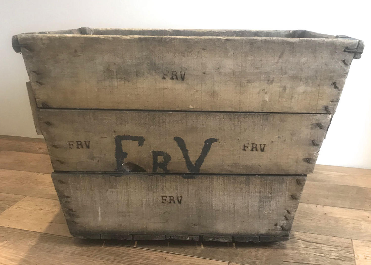 FRENCH CHAMPAGNE GRAPE HARVESTING CRATE