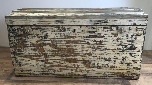 PAINTED TRAVEL TRUNK