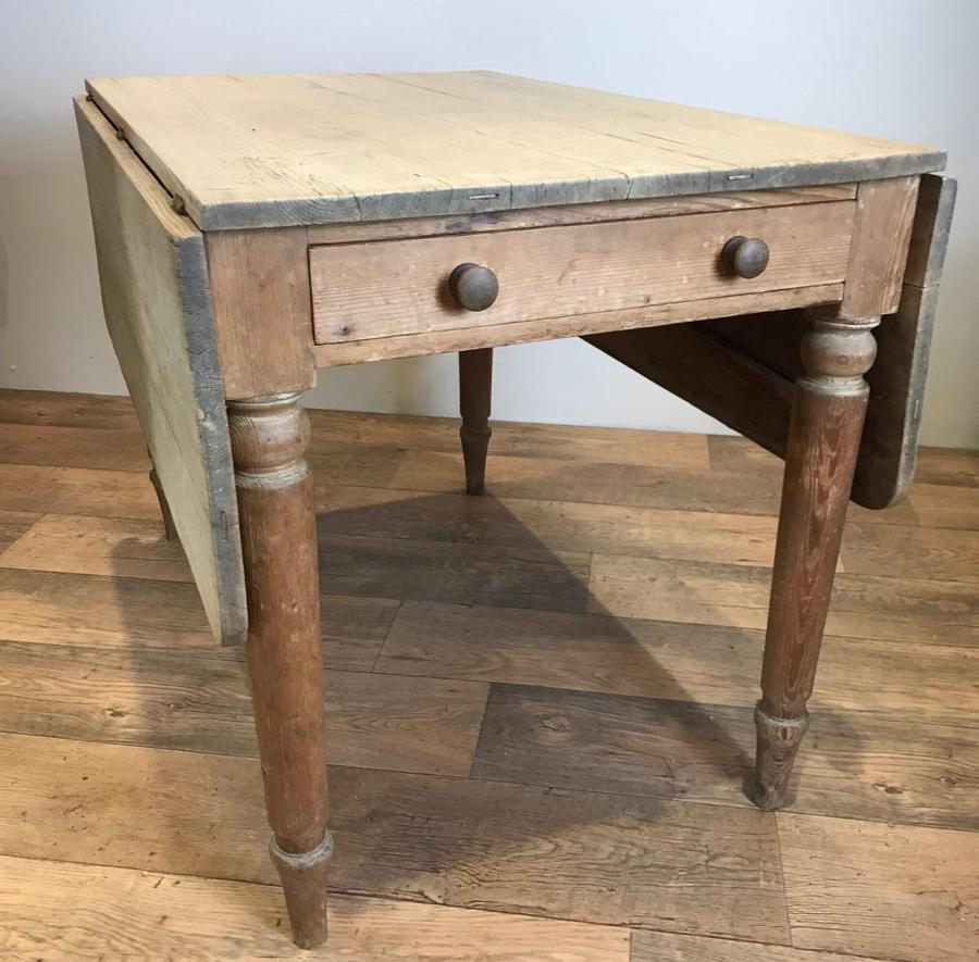 VICTORIAN DROP LEAF PINE TABLE