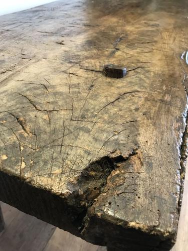 RUSTIC FRENCH BUTCHERS BLOCK TABLE