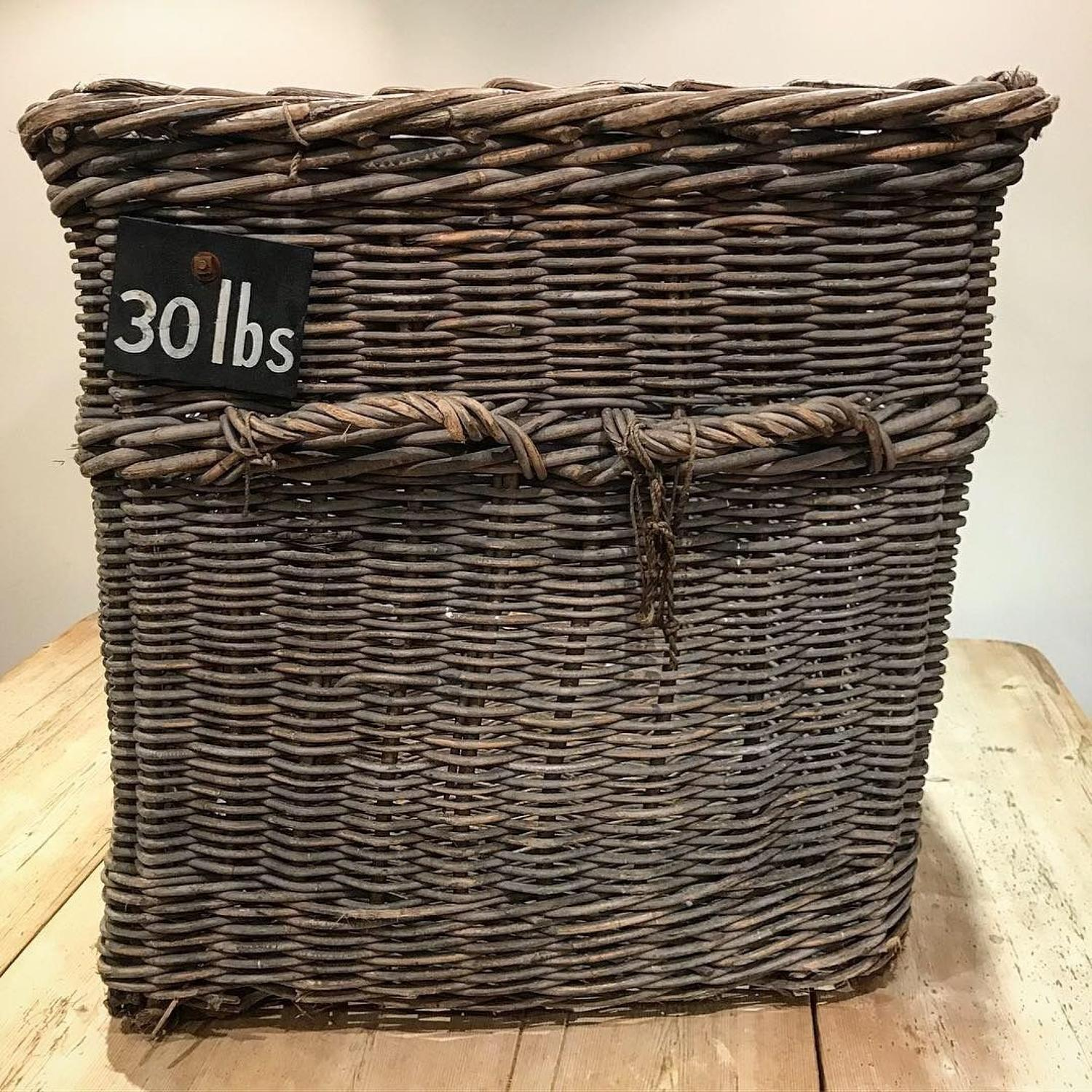 LARGE VICTORIAN WICKER MILL BASKET