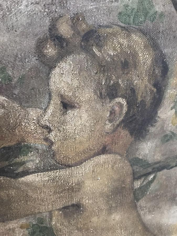 19TH CENTURY FRENCH PUTTI PAINTING