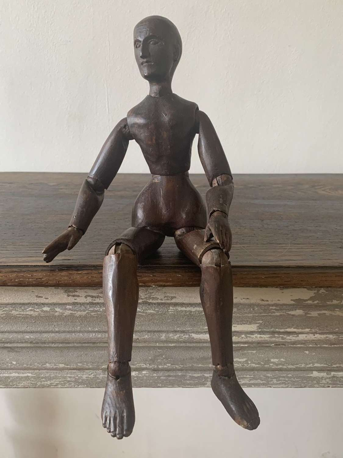 19TH CENTURY ARTISTS PINE LAY FIGURE