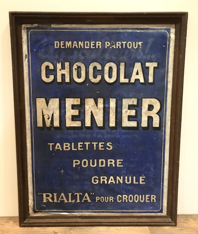 RARE FRENCH CHOCOLAT MENIER SIGN