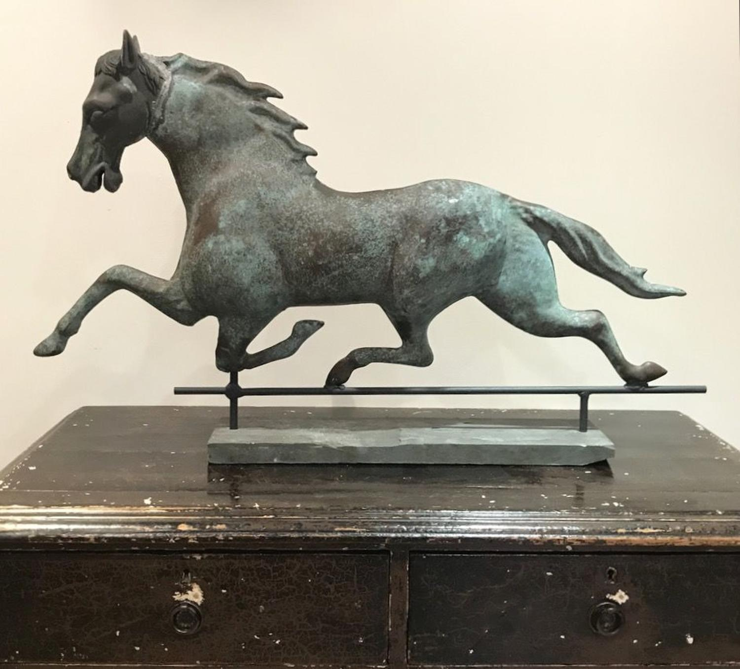 19TH CENTURY AMERICAN HORSE WEATHERVANE