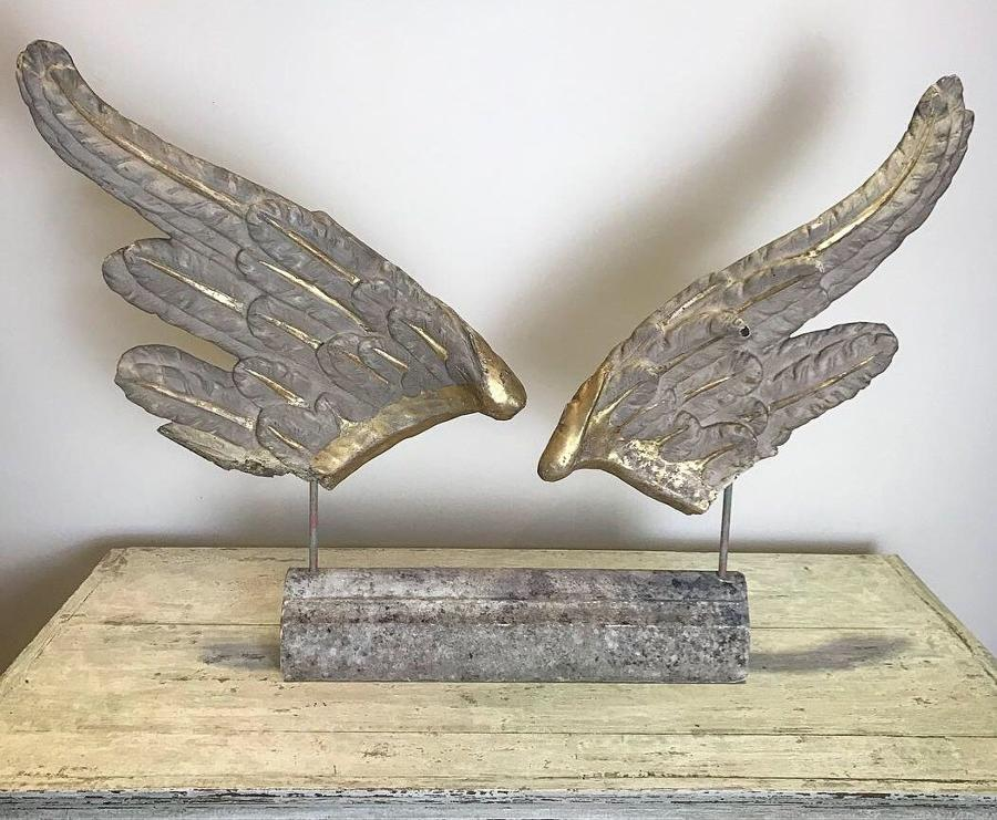 18TH CENTURY ANGEL WINGS