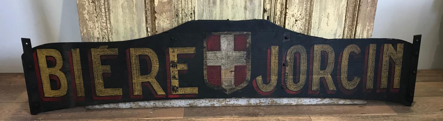 ANTIQUE FRENCH BREWERY SIGN