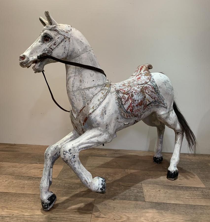 19TH CENTURY GERMAN FREDRICH HEYN CAROUSEL HORSE