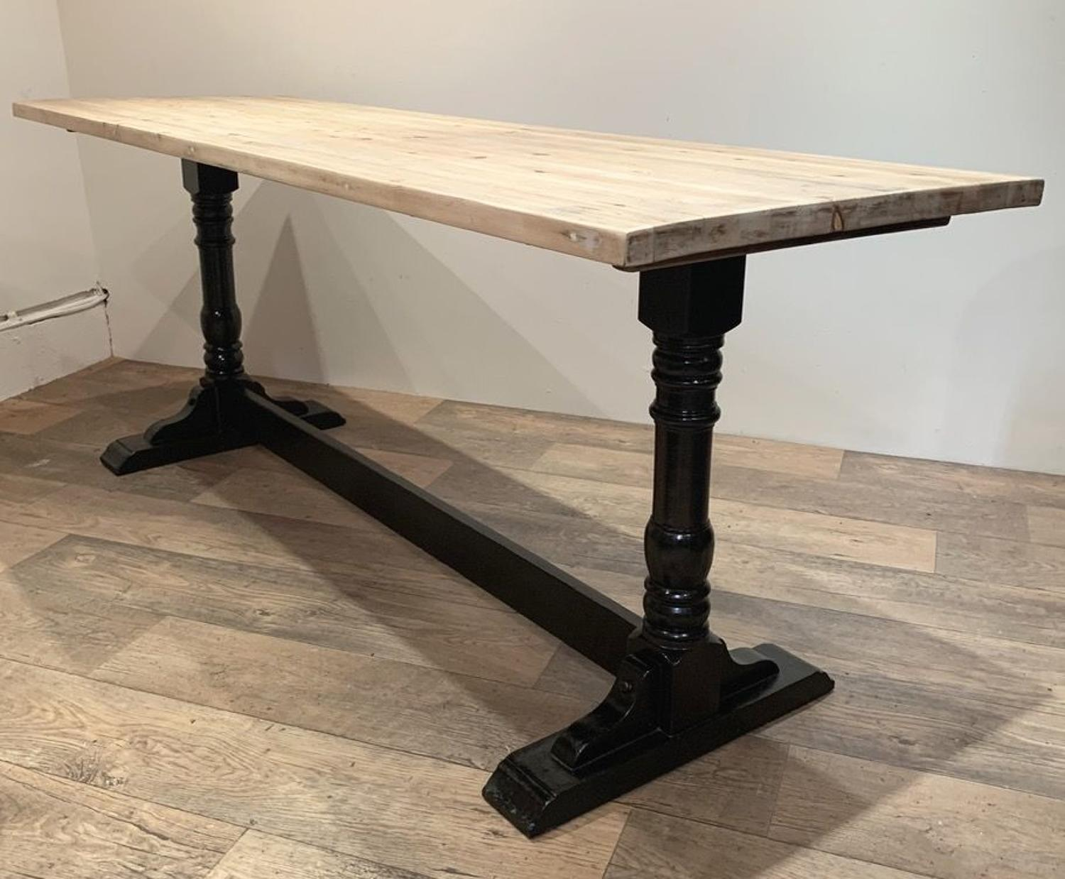 EBONISED REFECTORY TABLE
