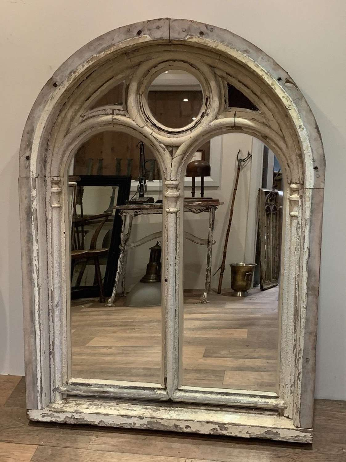 GOTHIC CHAPEL WINDOW FRAME MIRROR