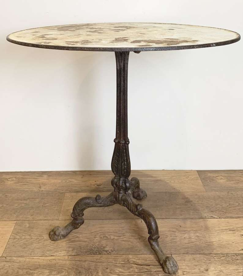 LARGE 19TH CENTURY FRENCH BISTRO TABLE