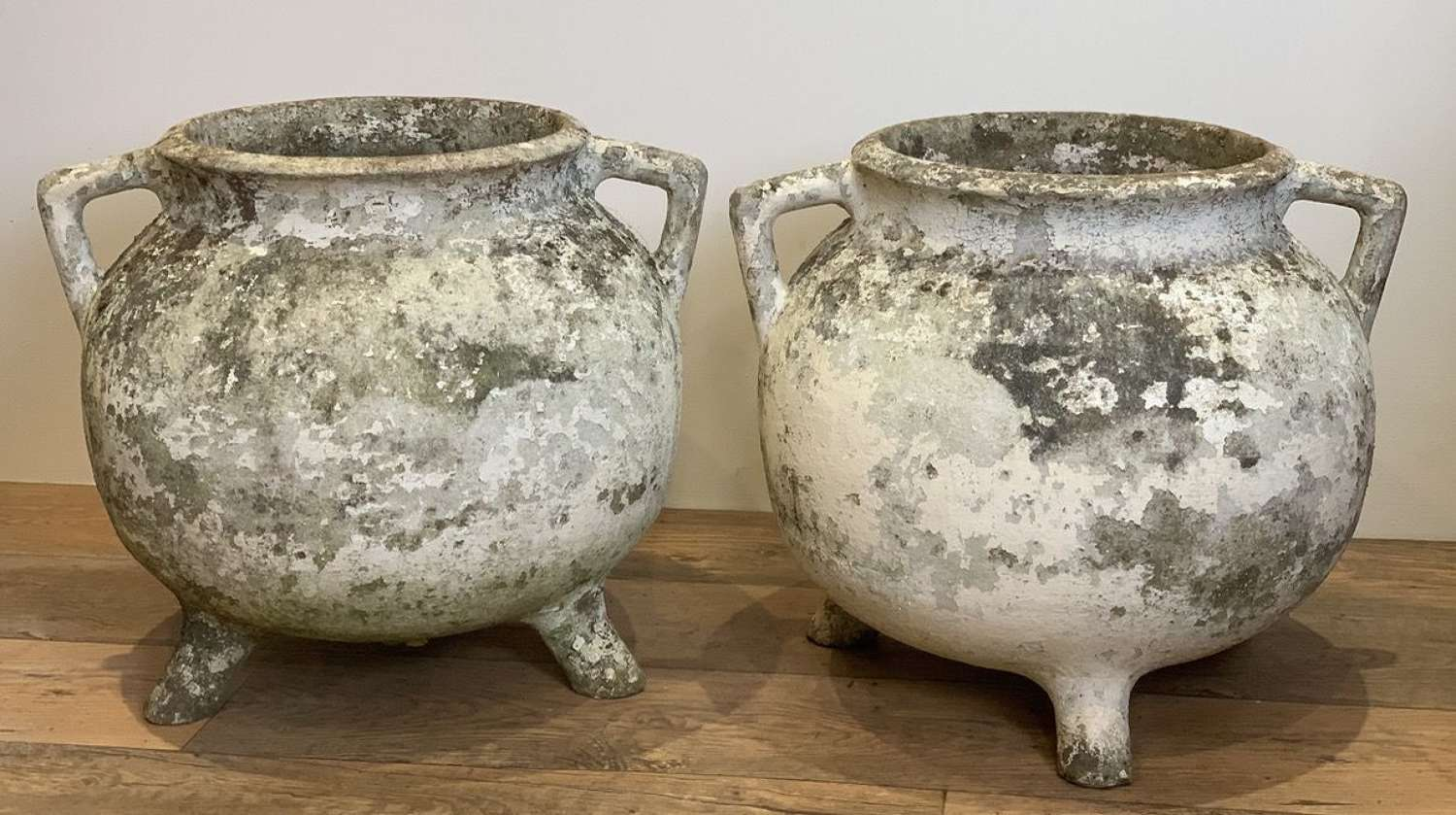 PAIR OF WILLY GUHL CAULDRON PLANTERS