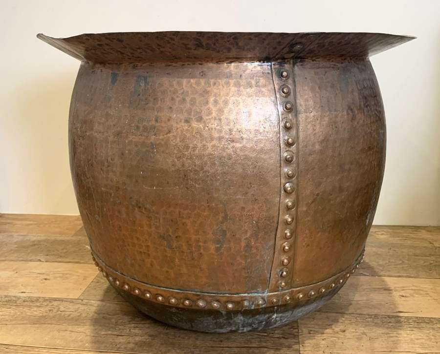 LARGE FRENCH RIVETED COPPER
